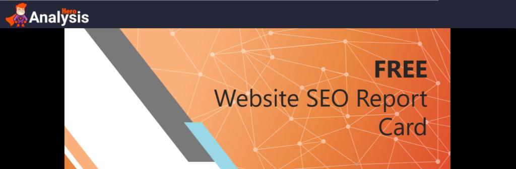 FREE website analysis report